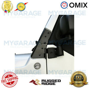 Omix For 1997-2006 Jeep Wrangler TJ Windshield Hinge Kit, Black - 11209.02