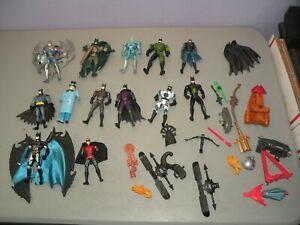 DC Figure Lot of 12 Vintage Batman Robin Mr. Freeze 1990's Some Accessories ++