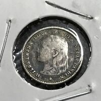 1897 NETHERLANDS SILVER 10 CENTS BETTER COIN