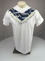 NWT Vtg 90s San Diego/LA Chargers bead cutout embellished t-shirt Large white