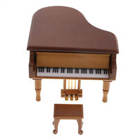 Retro Musical Box Wooden Orgel Grand Piano Melody Mechanism Music Movements
