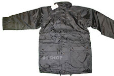 Mens Prima Work Full Length Parka Coat WATERPROOF Navy Blue Quilted Size L - B3