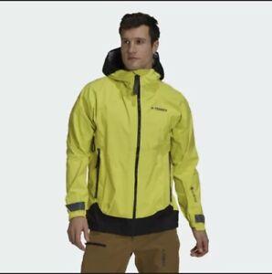 Adidas Terrex MyShelter Gore-Tex Pro Rain Jacket Acid Yellow Men's Size XL