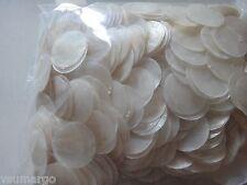 """500 Natural Round Capiz Shell Disks 1.5"""" (No Hole)"""
