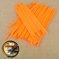 72x Orange Wheel Spoke Coat Wrap Skin Cover Fit For Motor Dirt Bikes ATV Chopper