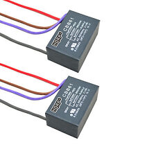 2-Pack Capacitor for Hampton Bay Ceiling Fan 4.5uf+5uf+6uf 4-Wire CBB61