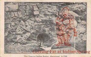 H41/ Indian Spring Georgia Postcard 1908 Famous Getting Fat at Indian Spring