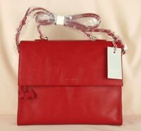 "Radley ""Kentwell"" Red Leather Medium Across Cross Body Multiway Bag New"