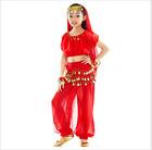 KID's Blouse Pants Belt Head scarf 5pcs set Belly Dance Costume Dancewear 11