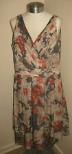 laura Ashley floral lined summer dress 18