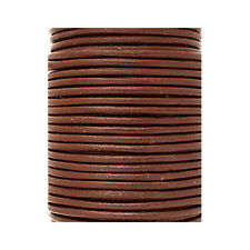 Round Leather Cord - Leather Jewelry Cord - Leather Bolo Cord - Copper Brown