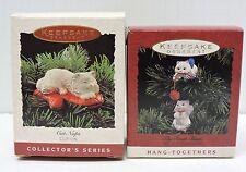 Hallmark Lot 2 CAT NAP Hang Together SWAT TEAM Clip-On Ornaments Kitten 1993-95