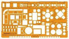 1; 5 plantilla de muebles de dibujo arquitectónico Stencil-plantilla de diseño técnico.