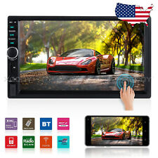 "7"" HD Touch Screen Car Stereo Radio Double 2 DIN BT USB AUX FM MP5 Player MP3"