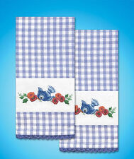 Embroidery Kit ~ Design Works Bluebird Kitchen Towel Pair (2 Towels) #T212953