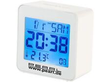 Réveil Digital Radio-piloté avec Calendrier et Thermomètre Intégré - Pearl