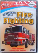 Little Steps: Adventures with Fire Fighting (DVD, 2009) NEW Boy Fire Engine