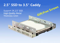 "2.5"" SSD Hard Drive to 3.5"" Drive Bay Adapter Bracket HDD Converter Caddy Tray"