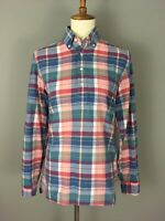 J Crew Women's Plaid Popover Tunic Shirt XS Cotton Preppy Top Long Sleeve