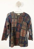 Spirit Of The Andes Alpaca Vintage Pull Over Jumper Hand Made Size Large