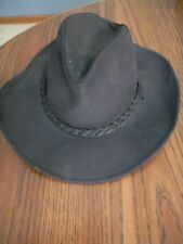 1f8886657903c Wilsons Leather Mens Cowboy Leather Hat in black with braid size M