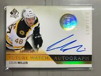 2015-16 SP Authentic Future Watch Limited /100 Colin Miller #274 Rookie Auto