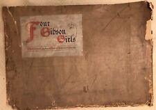 Antique Original 1903 Artist Proof Four Gibson Girls The Eternal Question Alice