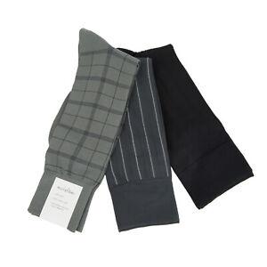 Calvin Klein Men's Assorted 3 Pair Microfiber Dress Socks Sz 7-12 NEW