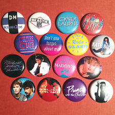 "16 80s 1"" Buttons - FREE SHIPPING! 1980s eighties Madonna Prince Michael Jackson"