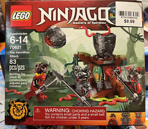 LEGO 70621 NINJAGO MASTERS OF SPINJITSU VERMILLION ATTACK NEW SEALED RETIRED