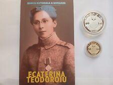 ROMANIA 10 LEI + 50 bani 2017 coin ROMANIAN Rumänien PROOF ECATERINA TEODOROIU