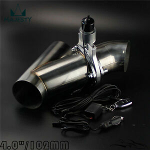 "4"" 102mm Remote Electric Exhaust Catback Downpipe Cutout E-Cut Out Valve System"