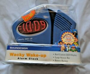 BRAND NEW Soundesign Wacky Wake Up Alarm Clock - 3131L - FREE SHIPPING!!!