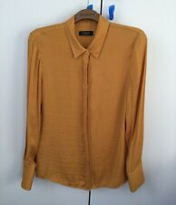 Ladies Long Sleeved Shirt In Ochre M&S Autograph Range Size 10