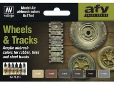 VAL71213 	 AV Vallejo Model Air Set - Wheels and Tracks Airbrush Paints
