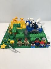 DUPLO Custom ZOO / FARM with Animals, Figures and large base Plate