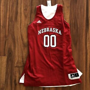Two Sided Indiana Huskers NCAA Basketball Jersey Size Large Men's Cornhuskers