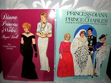 Princess Diana/ Prince Charles, Paper Dolls - Full Colour x 2 Books, 1985/1997
