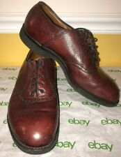 Alden Mens Red Brown Leather Pebbled Oxfords Size US 12 Goodyear Welt Shoes