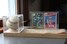 Mark McGwire signed autographed ball and rookie cards COA