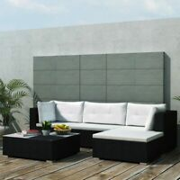 14 PCS Patio Rattan Wicker Sofa Set Cushioned Sectional Couch Furniture Outdoor