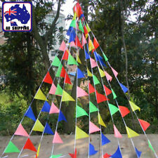 50m Multi-Coloured Flag String Banner Bunting Pennant Ceremony SFL001000x10
