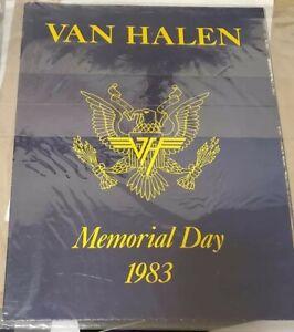 VAN HALEN 1983 US Festival Memorial Day Program Poster Gem Mint Condition !!!