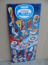 Insegna listino prezzi gelati Motta Nestlè vintage bar old italy