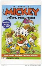 Journal de Mickey Castors juniors Ducobu Euro BNP banque bank euros monnaie Euro