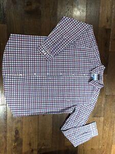 Columbia Shirt XL Pink & Blue Long Sleeve Cotton