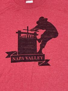Napa Valley Wine T Shirt Mens Size Medium Wine Country