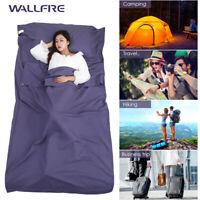 Single/Double Sleeping Bag Liner Travel Sleep Sack Sheet Hiking Camping Tent Mat