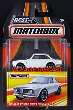 2017 Matchbox Best of '65 Alfa Romeo Giulia Sprint Gta Gardenia White / Moc