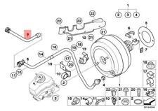 Genuine BMW E60N E61N Power Brake Unit Depression Vacuum Pipe OEM 11667556193
